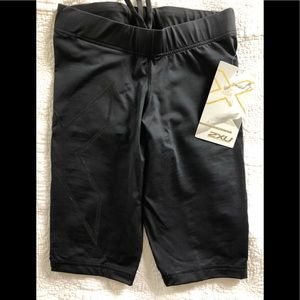 Pants - 2XU compression shorts-mid thigh.